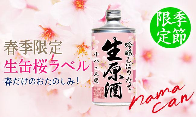 鳴門鯛 吟醸しぼりたて生原酒桜ラベル